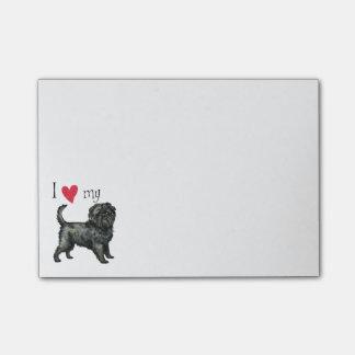 I Liebe mein Affenpinscher Post-it Klebezettel