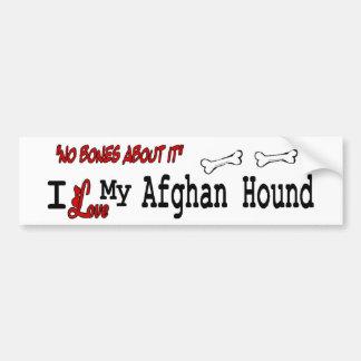 I Liebe mein Afghane Autoaufkleber