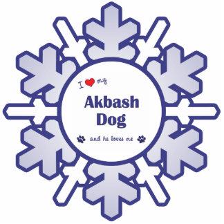 I Liebe mein Akbash Hund (männlicher Hund) Fotostatue