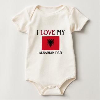 I Liebe mein albanischer Vati Baby Strampler