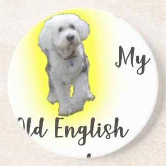 I Liebe mein alter englischer Schäferhund Sandstein Untersetzer