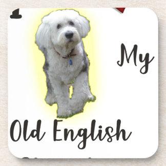 I Liebe mein alter englischer Schäferhund Untersetzer