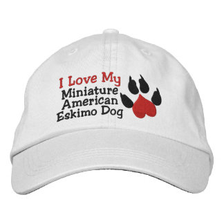 I Liebe mein amerikanischer Bestickte Kappe