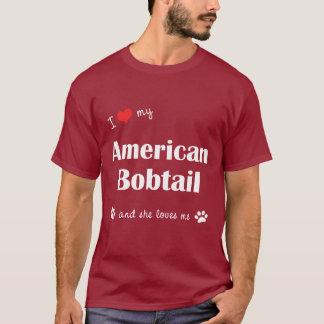 I Liebe mein amerikanischer Bobtail (weibliche T-Shirt