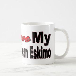 I Liebe mein amerikanischer Eskimo Kaffeetasse