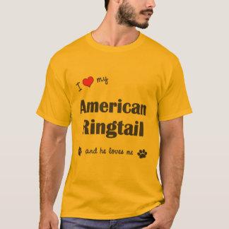 I Liebe mein amerikanischer Ringtail (männliche T-Shirt