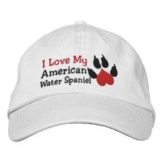 I Liebe mein amerikanisches Bestickte Kappe