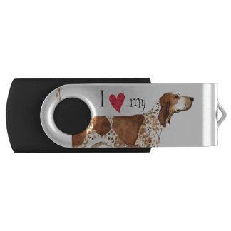 I Liebe mein amerikanisches EnglischCoonhound USB Stick