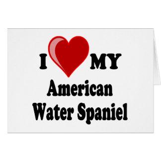 I Liebe mein amerikanisches Wasserspaniel-Hund Karte