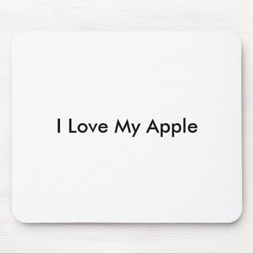 I Liebe mein Apple - Mousepad