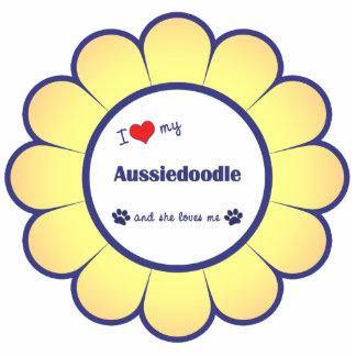 I Liebe mein Aussiedoodle (weiblicher Hund) Photo Figuren