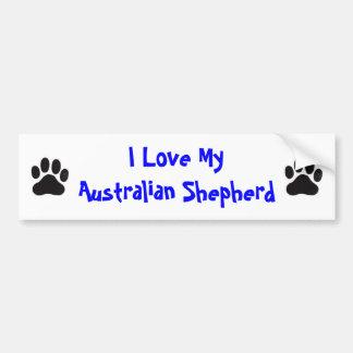 I Liebe mein australischer Schäfer Autoaufkleber