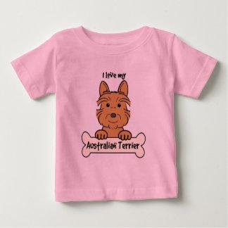 I Liebe mein australischer Terrier Baby T-shirt
