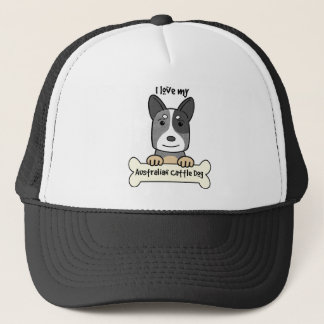 I Liebe mein australischer Vieh-Hund Truckerkappe