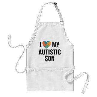 I Liebe mein autistischer Sohn Schürze