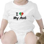I Liebe mein Avo (Großmutter) Baby Strampelanzug