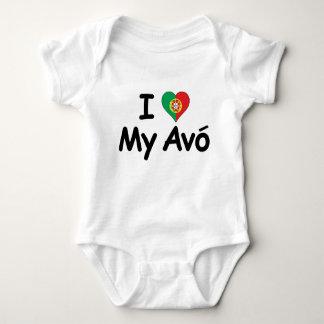 I Liebe mein Avo (Großmutter) Baby Strampler
