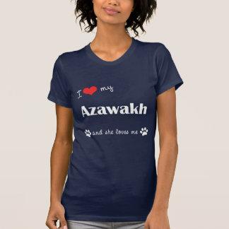 I Liebe mein Azawakh (weiblicher Hund) T-Shirt