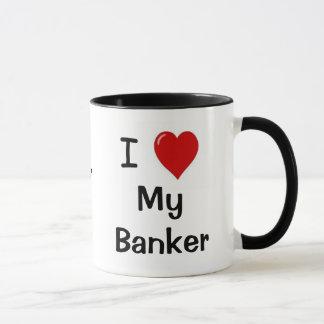I Liebe mein Banker u. meine Banker-Lieben ich Tasse