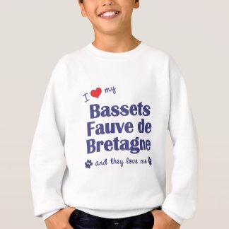 I Liebe mein Bassets Fauve de Bretagne (multi Sweatshirt