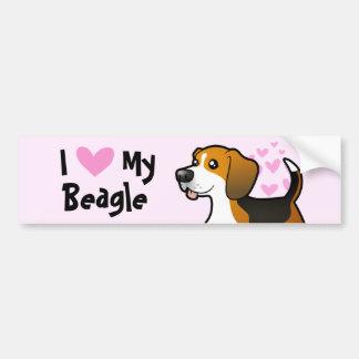 I Liebe mein Beagle Autoaufkleber