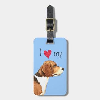 I Liebe mein Beagle Kofferanhänger