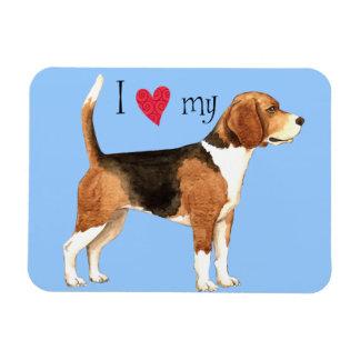 I Liebe mein Beagle Magnet