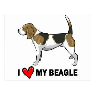 I Liebe mein Beagle Postkarte
