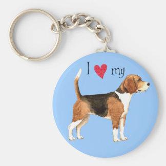 I Liebe mein Beagle Schlüsselanhänger