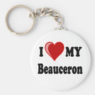 I Liebe mein Beauceron Hund Schlüsselanhänger
