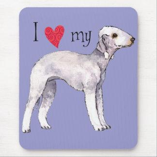 I Liebe mein Bedlington Terrier Mousepads