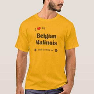 I Liebe mein belgischer Malinois (männlicher Hund) T-Shirt
