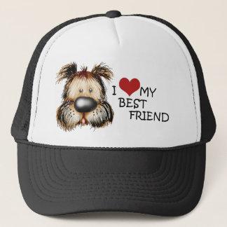 I Liebe mein bester Freund-Hut Truckerkappe