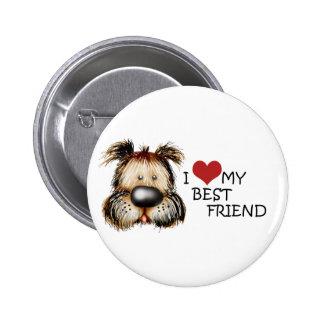 I Liebe mein bester Freund-Knopf Runder Button 5,1 Cm