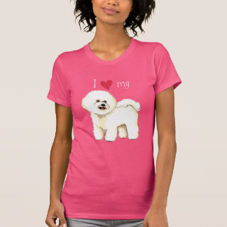 I Liebe mein Bichon Frise T-Shirt