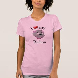 I Liebe mein Bichon T - Shirt