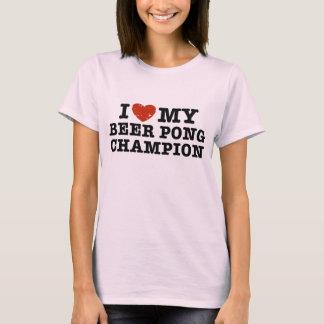 I Liebe mein Bier Pong Meister T-Shirt