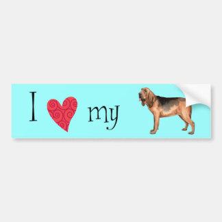 I Liebe mein Bluthund Autoaufkleber