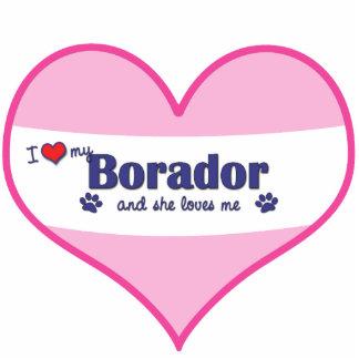 I Liebe mein Borador (weiblicher Hund) Fotofigur