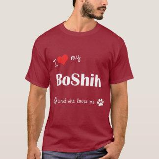I Liebe mein BoShih (weiblicher Hund) T-Shirt