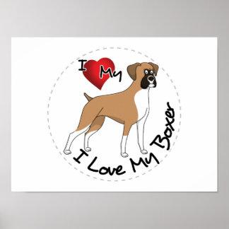 I Liebe mein Boxer-Hund Poster