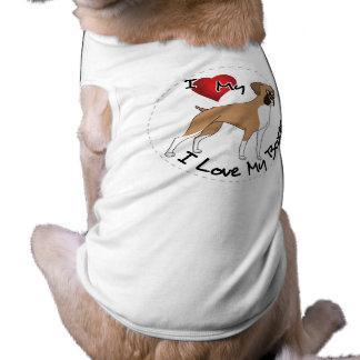 I Liebe mein Boxer-Hund Shirt