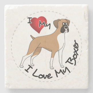 I Liebe mein Boxer-Hund Steinuntersetzer