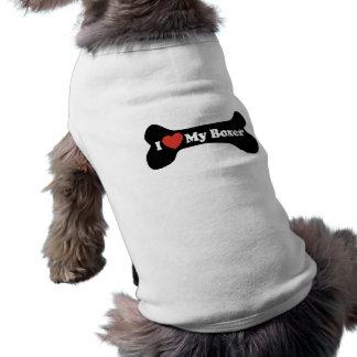 I Liebe mein Boxer - Hundeknochen Shirt