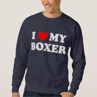 I Liebe mein Boxer Sweatshirt
