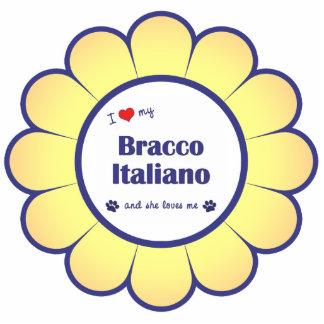 I Liebe mein Bracco Italiano (weiblicher Hund) Fotoskulptur Ornament