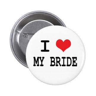 I Liebe mein Braut-Knopf Runder Button 5,1 Cm