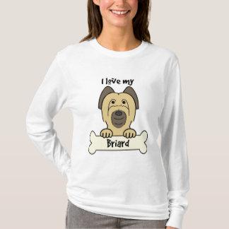 I Liebe mein Briard T-Shirt