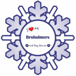 I Liebe mein Broholmers (mehrfache Hunde) Photo Figuren