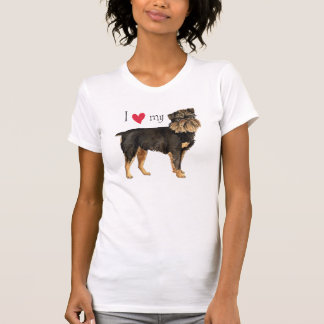 I Liebe mein Brüssel Griffon T-Shirt